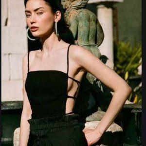 Cult Gaia Simone Top Black Large NWT
